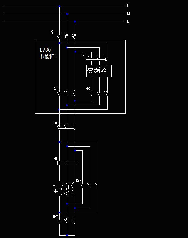 图二为压铸机e680变频节能柜控制电路框图.