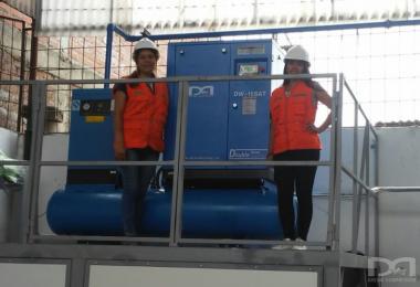 秘鲁配套一体式螺杆空压机设备项目