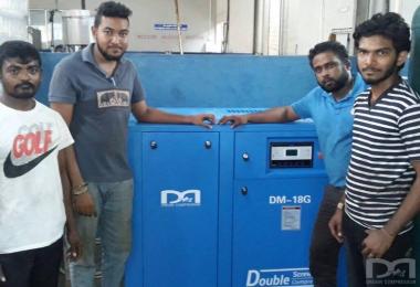 斯里兰卡配套德蒙固定螺杆空压机项目