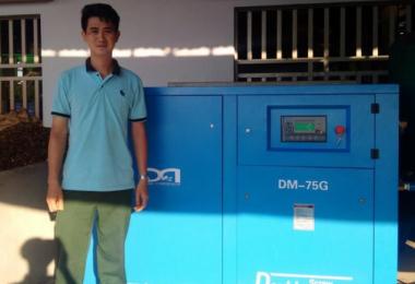 越南某工厂配套德蒙固定式螺杆空压机设备